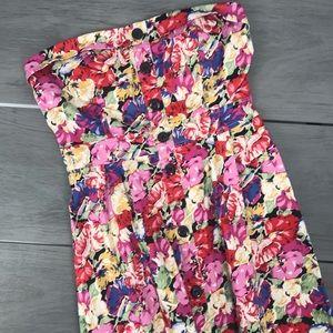🖤3/$30Kismet mini floral strapless dress  large